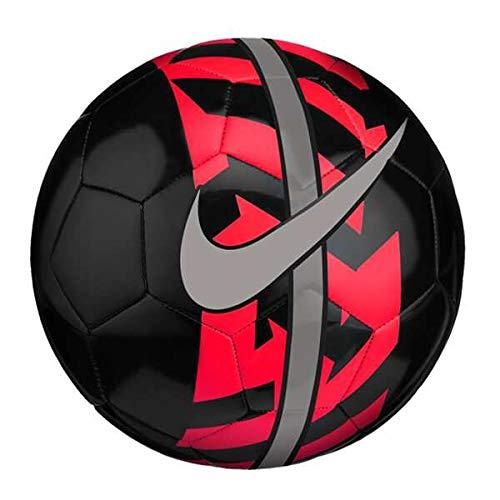 Nike NK React, Pallone da Calcio Unisex Adulto, Black/Bright Crimson/Metallic, 5