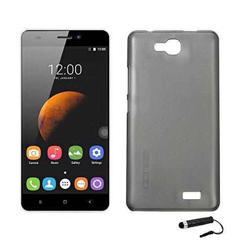 Tasche für Oukitel C3 Hülle, Ycloud Handy Backcover Kunststoff-Hard Shell Case Handyhülle mit stoßfeste Schutzhülle Smartphone Grau