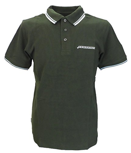 Lambretta Retro 100% Cotton Dark Green Polo Shirt