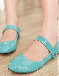 shangy idamen Chaussures–Ballerines–Bureau/robe/Lässig–Vernis Cuir–Plat Paragraphe–Ballerine–Noir/Vert/Rouge/amande
