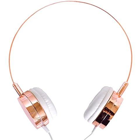 Lily England On-Ear Kopfhörer mit Mikrofon, Fernbedienung und Rauschunterdrückung - Roségold. Stilvolles Design und hoher Tragekomfort, kompatibel mit Apple und Android (Frends Kopfhörer)