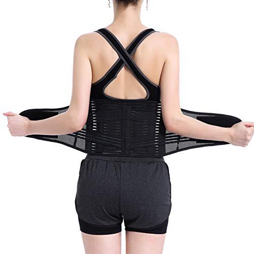Jonly Dual Adjustable Posture Therapy Lendengürtel - Rückenstütze & Stützgürtel - Atmungsaktive Mesh-Einsätze, rutschfeste Träger - Leichte und Flache Unterwäsche,L (Mesh-einsatz Seite)