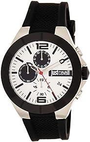 Just Cavalli Mens Quartz Watch, Analog-Digital Display and Silicone Strap, JC1G081P0045