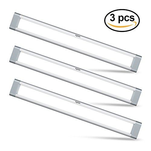 Aglaia LED Schrankleuchte Kit 9W, 3er Unterbauleuchte Ultra Dünn mit 6000K Kaltweiß für Küche, Regal, Wandschrank, Kabinett, Dachboden, Flur
