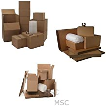 X-Large House Moving Removal Packing Cardboard Box Kit 40 Boxes Tape Bubble wrap