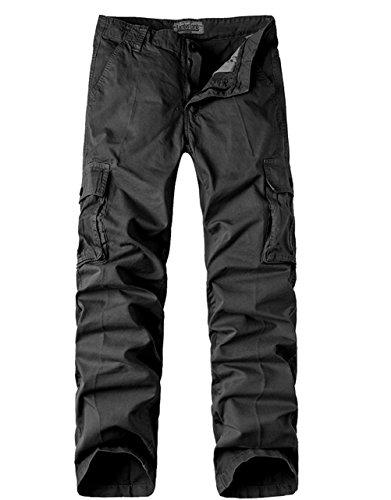 Menschwear Herren Cargo Hosen Freizeit Multi-Taschen Military pantaloni Ripstop Cargo da uomo (38) (Slim Us Herren Jean Polo Assn)