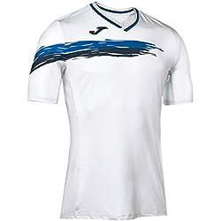 Joma Picasho Tenis - Camiseta de manga corta para hombre, color blanco / amarillo, talla XXL