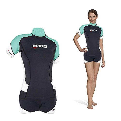 Mares Damen Rash Guard Trilastic Shorts, blau, Size 2X-Small - Guard Frauen Rash Für Shorts
