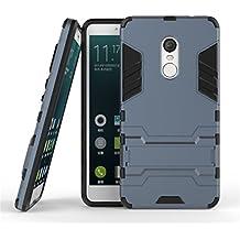 Redmi Note 4 Armadura Funda, Lifetrut [Dual Layer Design] 2 en 1 protector de TPU suave y dura de la PC híbrido resistente protector Armadura Defender Funda con una función de pata de cabra Para Xiaomi Redmi Note 4 [Blue Black]