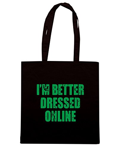 T-Shirtshock - Borsa Shopping FUN0752 better dressed online chr mens cu 4 1 Nero
