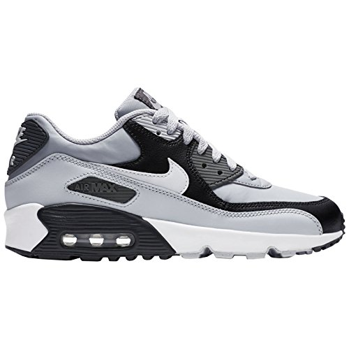 lowest price d38fc 53eb5 ... discount nike youth air max 90 wolf grey white leather trainers 38.5 eu  89ea1 b0658