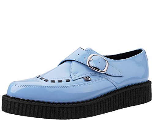 T.U.K. Shoes Women's Baby Blue Patent Buckle Pointed Creeper Blue