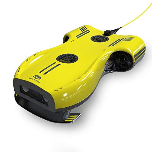 Aquarobotman Drone sous-Marin Nemo avec ROV de caméra 4K UHD pour Le sous-Marin de pêche en plongée RC