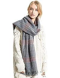 Amazon.fr   Plaid Jaune - Bleu   Echarpes et foulards   Accessoires ... b19163fadb3
