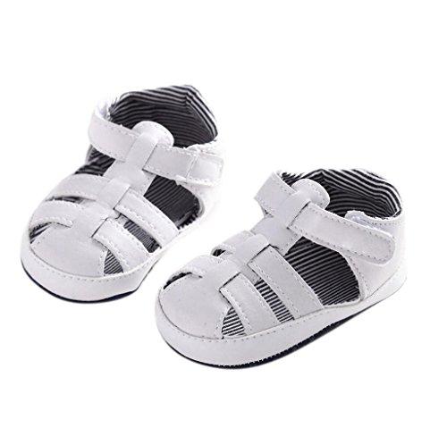 Covermason Neugeboren Baby Sandalen Schuhe Kleinkindschuhe Krippeschuhe Weiß