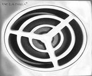 Acier Inox vidange de douche avec siphon amovible drain de plancer 118x118mm pour douche à l'italienne la conception ronde
