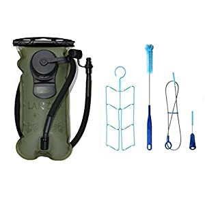 41UnRYNlqkL. SS300  - LANZON Hydration Pack | 2L Or 3L Water Bladder | Marathon Running Vest, Hiking Cycling Backpack | FDA Approved, Leak-Proof Hydration Reservoir