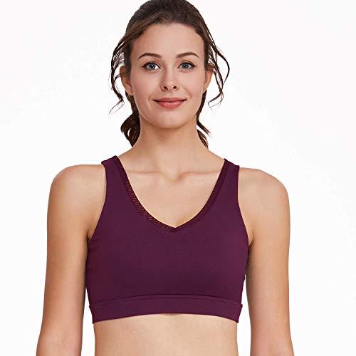 MU Sexy Europa und Amerika Sexy Deep V Sport-BH Schnelltrocknend Atmungsaktiv Schönheit Zurück Komfortabel Yoga Damen Weste Großhandel,Schwarz,S