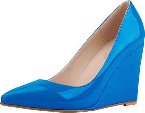 CFP , Sandales Compensées femme bleu ciel