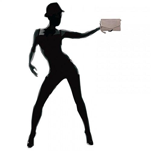 CASPAR Fashion - Borsetta senza manici donna Marrone (Marrone)