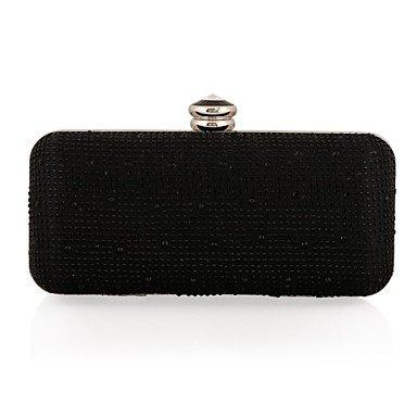 pwne L. In West Woman Fashion Diamanten Abend Tasche Black
