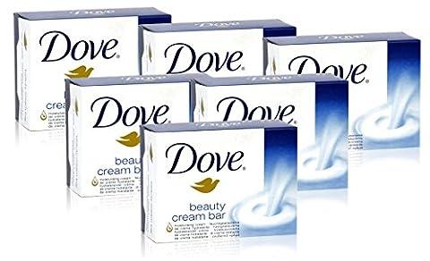 6x Dove Beauty Cream Bar Original Soap Bath Shower 100g