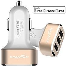 [Certificato da Apple] Caricabatteria da auto USB ACEPower® Premium 3