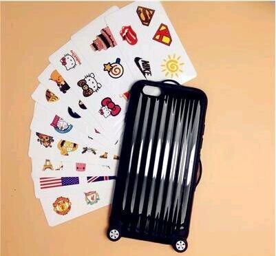 Coque iPhone 5/5s, iNenk® La nouvelle valise téléphone Shell manchon de protection en mode créatif marée dur PC valise mignon affaire couvercle-blanc Noir