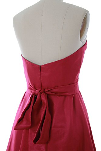 MACloth Women Sweetheart Short Bridesmaid Dress Wedding Party Gown with Sash Gelb