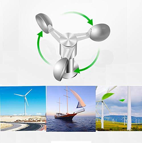LCXNN Anemómetro Inteligente,Alta Precisión Medidor de Velocidad del Viento/Grúa Torre Detector de Viento Dedicado Al Clima Sensor de Velocidad del Viento Tabla de Dirección del Viento