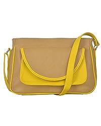 Fostelo Women's Zurich Shoulder Bag (Beige) (FSB-616)