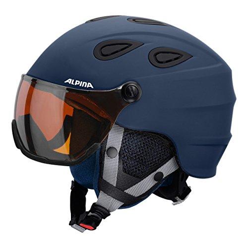 """Alpina Damen und Herren Skihelm """"Grap Visor HM"""" blau (296) M"""