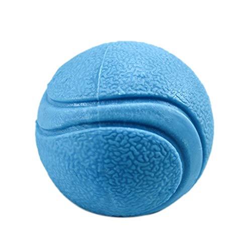CAOQAO Dog Ball - Robustes Spielzeug aus Gummi, unzerstörbarer Dog Ball - Spielzeug für große und kleine Hunde aus Naturkautschuk - solides Dog Ball - S/M/L - Blau