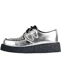 Underground Wulfrun Single sol Silver plata Shoes–Zapatos de piel suela color negro