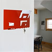 Memo Board Letter Rack and Key Holder (Red)