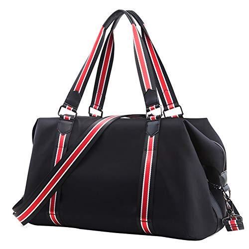 Asge Reisetaschen Herren Groß Trainingstasche Unisex Gym Club Sporttasche Männer Fitnesstasche Damen Weekender Tasche Schwarz Handgepäck Oxford-gewebe Wasserdicht Travel Bag