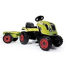 Smoby 7600710114 Claas Trattore Farmer XL con Rimorchio