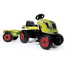 Tractor Claas Farmer XL a pedales con remolque (Smoby 710114)