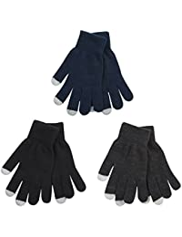 3 Pack Mens Womens Adults Touch Screen Gloves Smart Phone Texting Magic Gloves