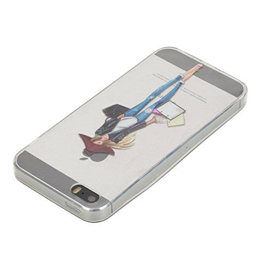 """Schutzhülle Flexible TPU für iPhone 5 5S SE 4"""",Herzzer Handytasche klare Weich Silikon Gel Case Ultra Leichte Flexibel Cover Schlanke Schale Kratzfeste Anti-Fingerprint Sehr Dünn Backcover für iPhone  Einkaufen gril"""
