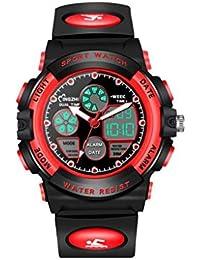 4e8003da99ec TD Reloj Deportivo Al Aire Libre Luminosa Impermeable Reloj Digital Hombres  Multifuncional Reloj De Pulsera (