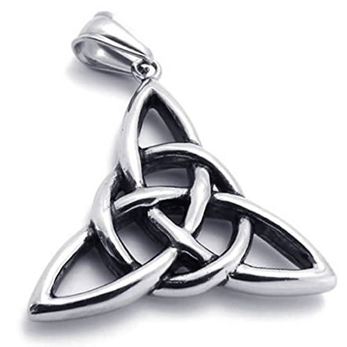 Haustiere In 50 Kostüme (Epinki Edelstahl Herrenkette, Unisex Anhänger Halskette Retro Keltisch Knoten 18 26