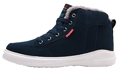 Herren Kurzschaft Stiefel Stiefeletten Schneestiefel Winterstiefel Gefütterte Winterschuhe Sneaker Sport Winter Boots by Santimon Grün