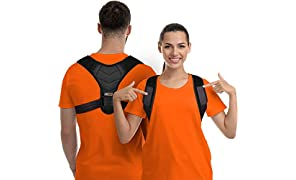 Corrector de postura para hombres y mujeres - Enderezadora de espalda superior con soporte ajustable transpirable clavícula soporte eficaz para el cuello, espalda y hombro alivio del dolor lumbar (Unisex)