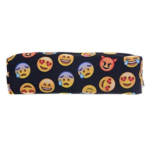 Astuccio matita caso portapenne beauty case pennarelli ed accessori scuola novita emoji black [008]