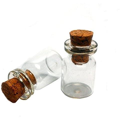 0,5ml vetro trasparente Bottiglie con tappo di sughero bottiglia di vetro in miniatura piccolo mini bottiglie in vetro con tappo in sughero