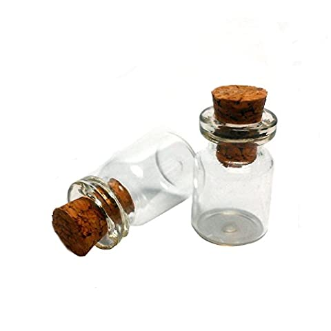 0,5ml fioles bouteilles en verre transparent avec bouchons en liège Bouteille en verre miniature petit mini bouteilles en verre avec bouchon en liège haut