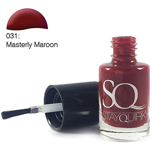 Stay Quirky Nail Polish, Masterly Maroon 31, 6ml