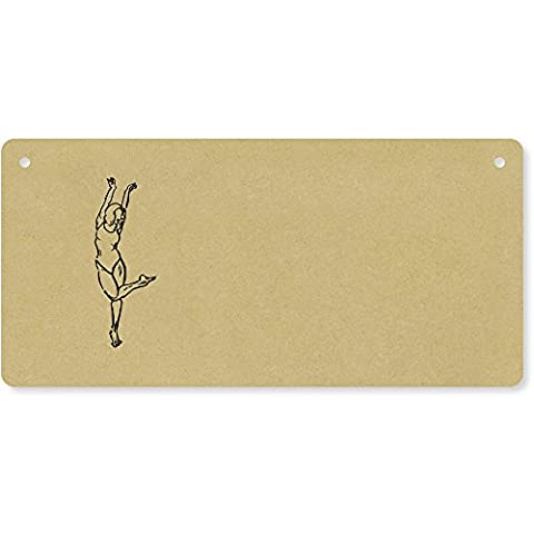 'Ballet Dancer' Wooden Wall Plaque / Door Sign (DP00009434)