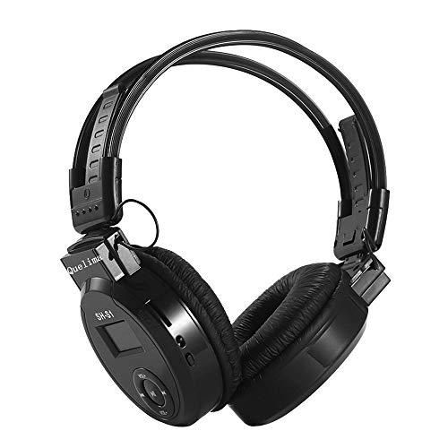 ShaDiao Wireless Kopfhörer - Faltbarer Sport-Funkkopfhörer LED FM Radio Kopfhörer unterstützt TF-Karte